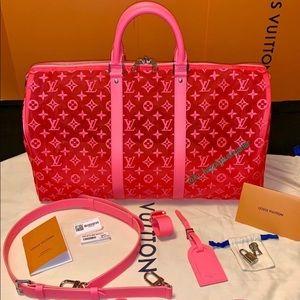 Louis Vuitton Pink Mesh Keepall